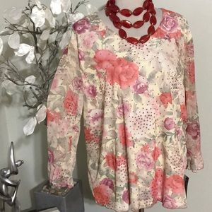 DRESS BARN PLUS SIZE BLOUSE